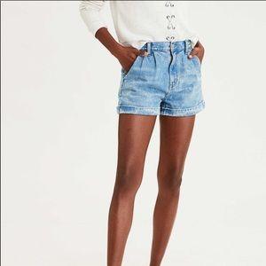American Eagle High Waisted Denim Mom Shorts